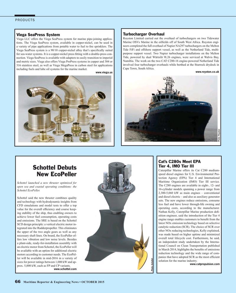 Maritime Reporter Magazine, page 66,  Oct 2015