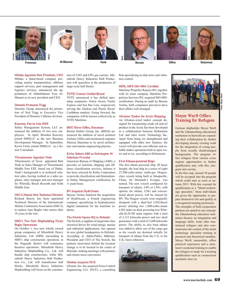 Maritime Reporter Magazine, page 69,  Oct 2015