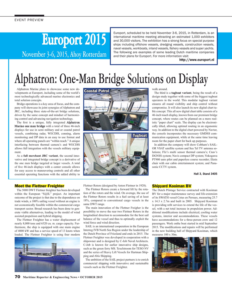 Maritime Reporter Magazine, page 70,  Oct 2015