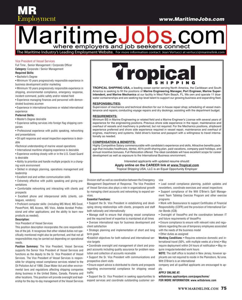 Maritime Reporter Magazine, page 75,  Oct 2015