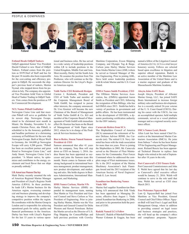 Maritime Reporter Magazine, page 150,  Nov 2015