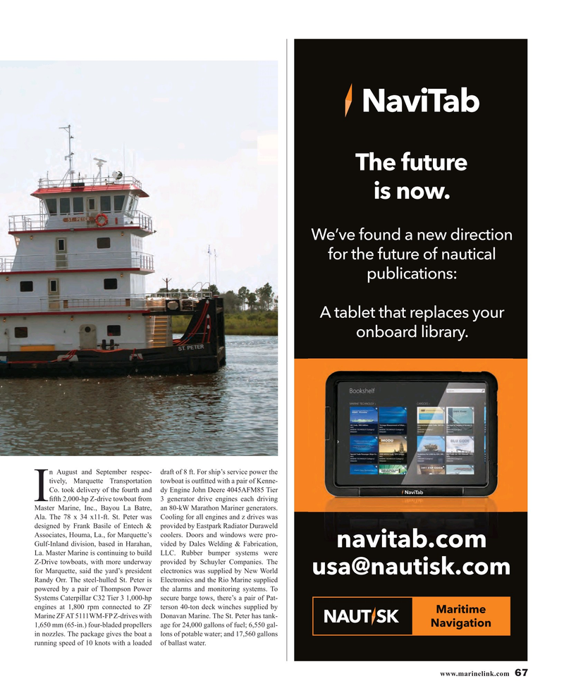 Maritime Reporter Magazine, page 67,  Nov 2015