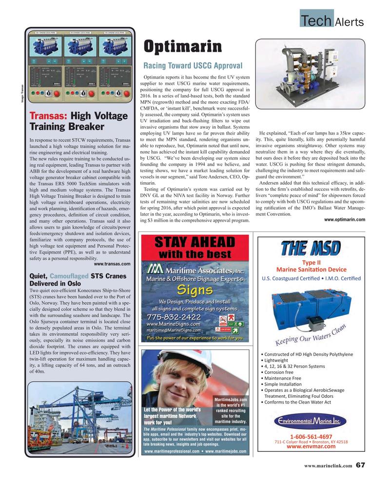 Maritime Reporter Magazine, page 67,  Dec 2015