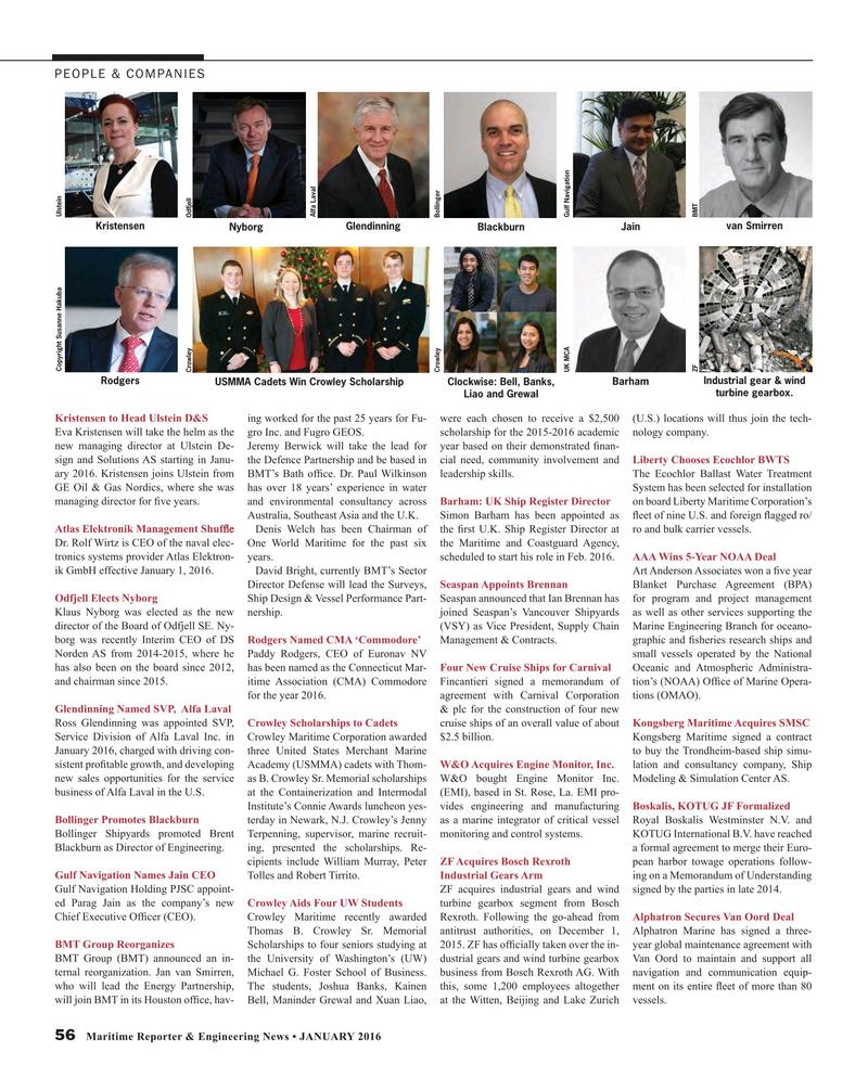 Maritime Reporter Magazine, page 56,  Jan 2016