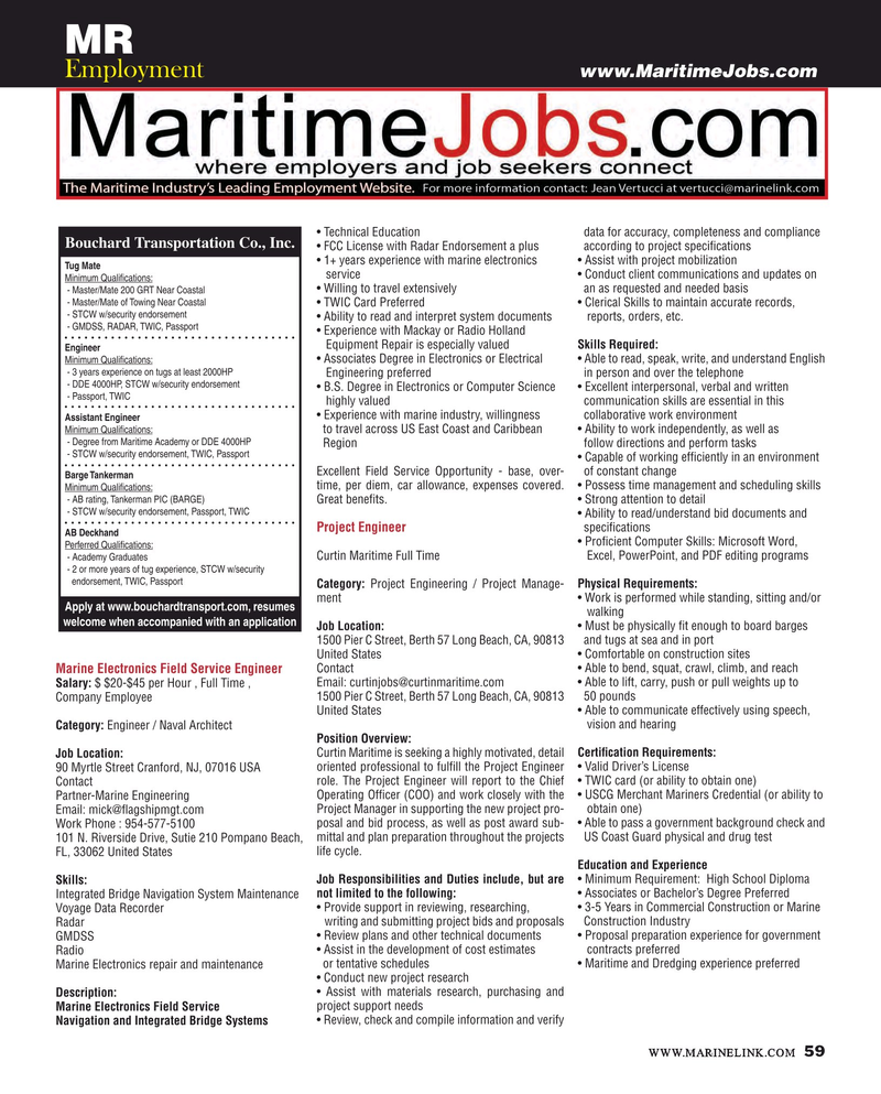 Maritime Reporter Magazine, page 59,  Jan 2016