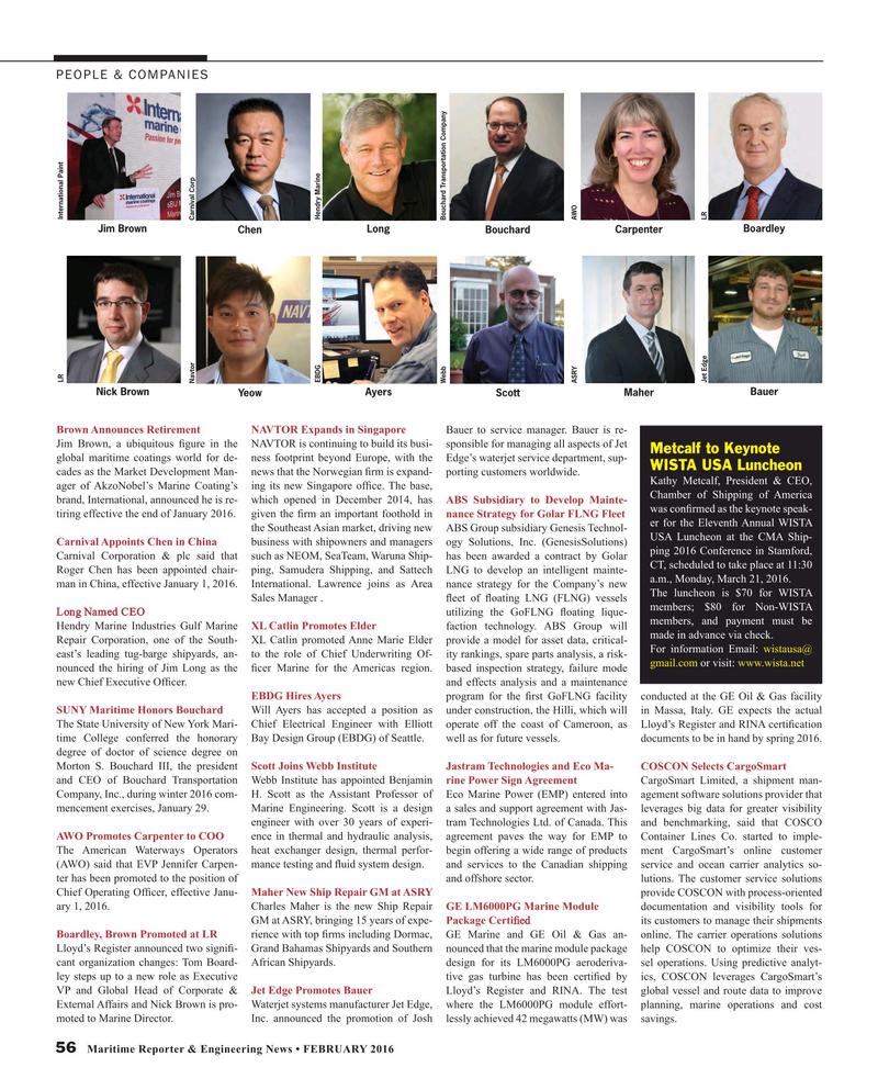 Maritime Reporter Magazine, page 56,  Feb 2016