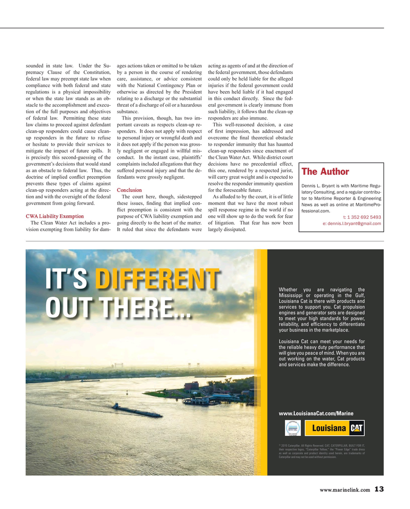 Maritime Reporter Magazine, page 13,  Mar 2016