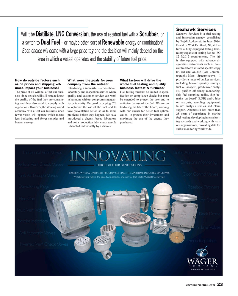 Maritime Reporter Magazine, page 23,  Mar 2016