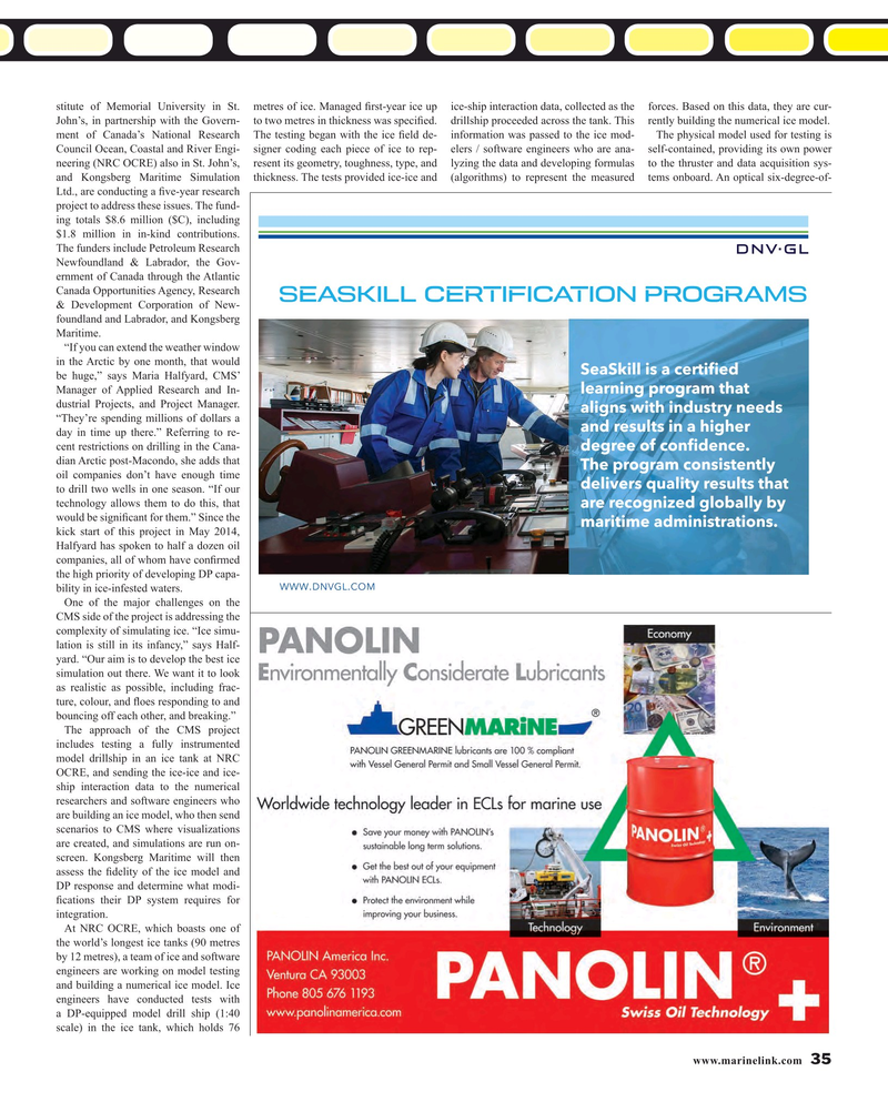 Maritime Reporter Magazine, page 35,  Mar 2016