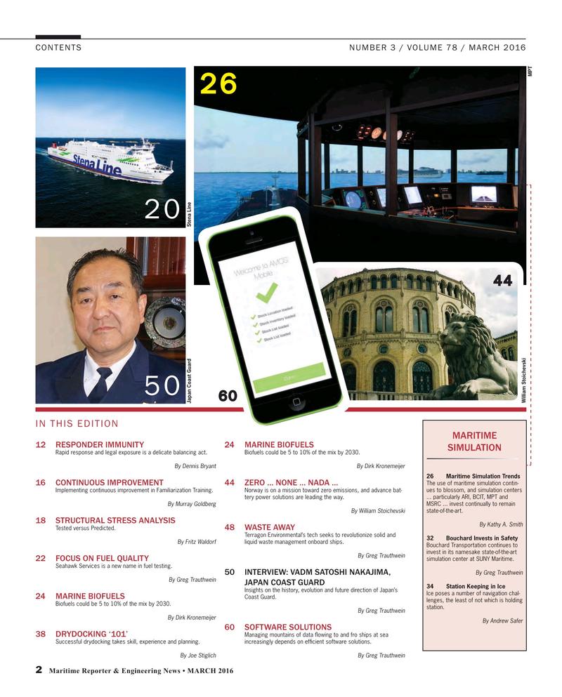 Maritime Reporter Magazine, page 2,  Mar 2016