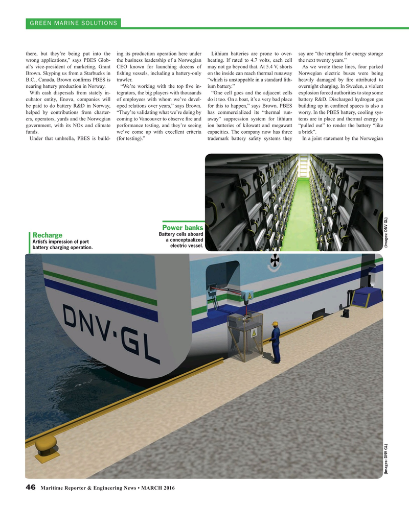 Maritime Reporter Magazine, page 46,  Mar 2016