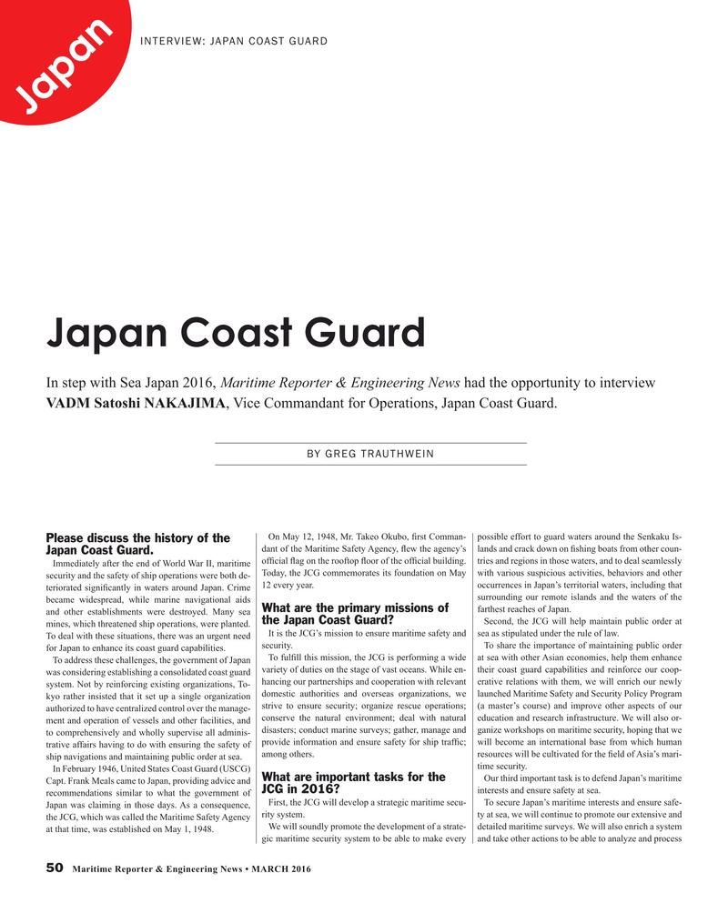 Maritime Reporter Magazine, page 50,  Mar 2016