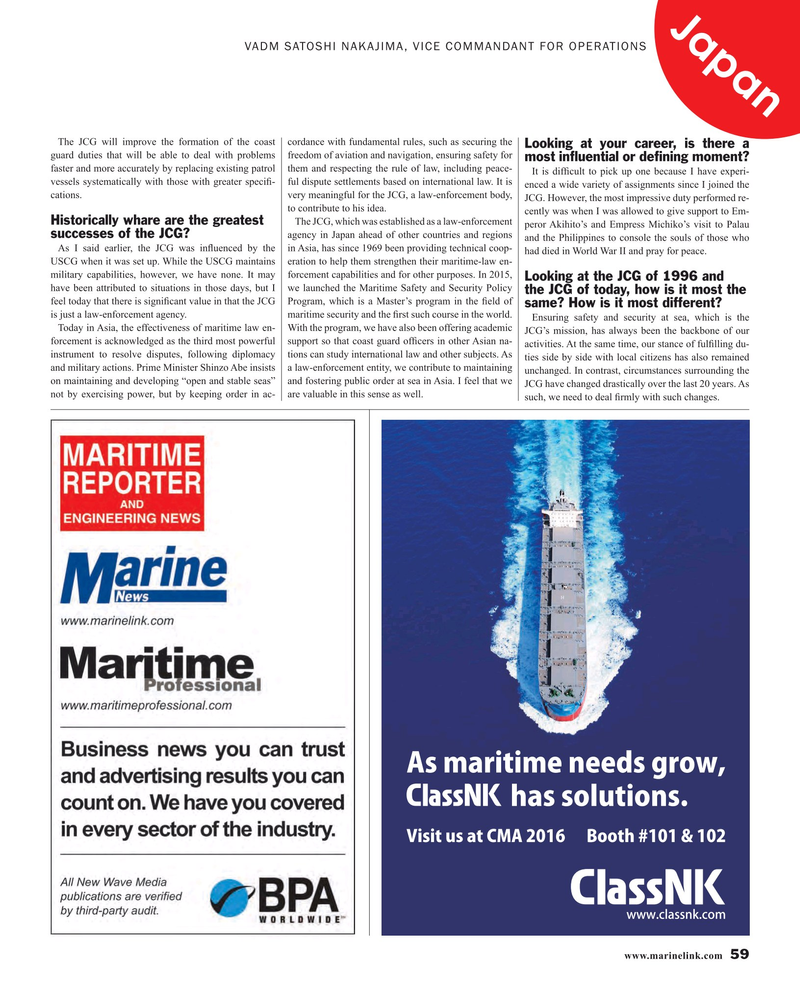 Maritime Reporter Magazine, page 59,  Mar 2016