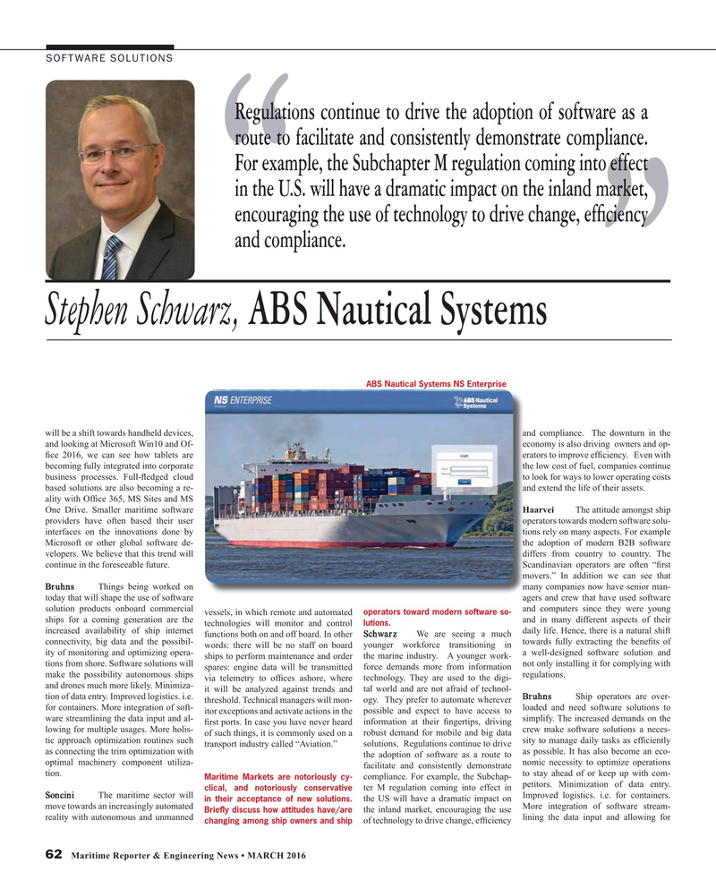 Maritime Reporter Magazine, page 62,  Mar 2016