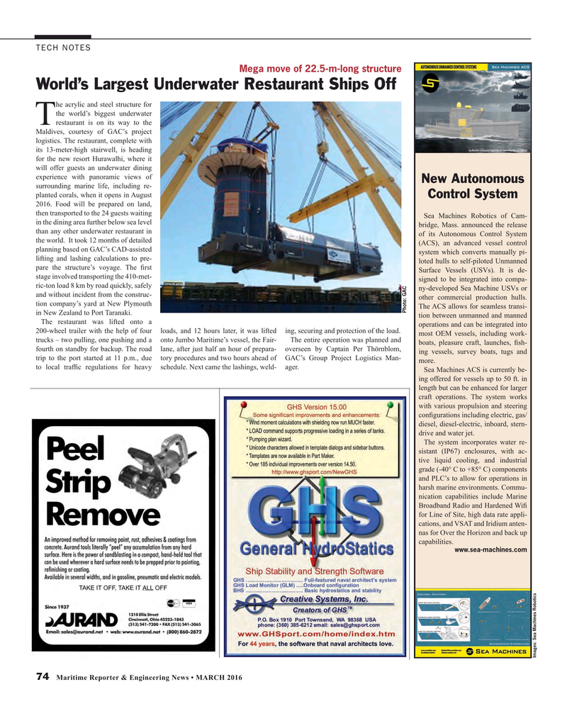 Maritime Reporter Magazine, page 74,  Mar 2016