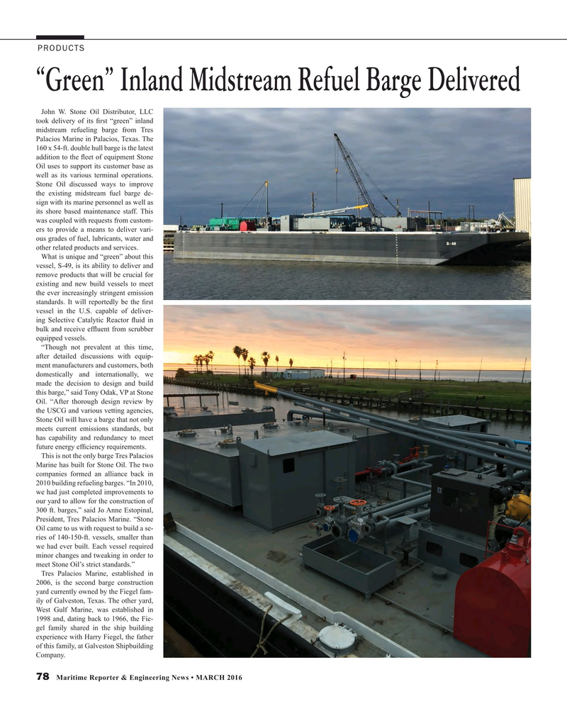 Maritime Reporter Magazine, page 78,  Mar 2016