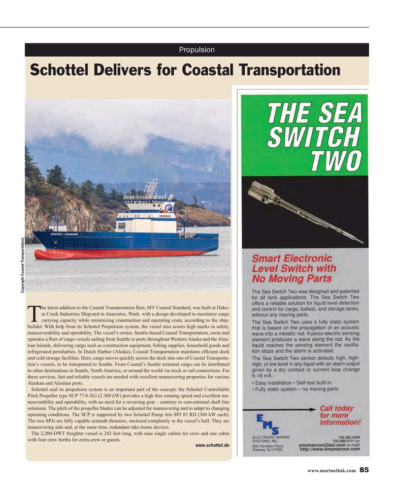 Maritime Reporter Magazine, page 85,  Mar 2016