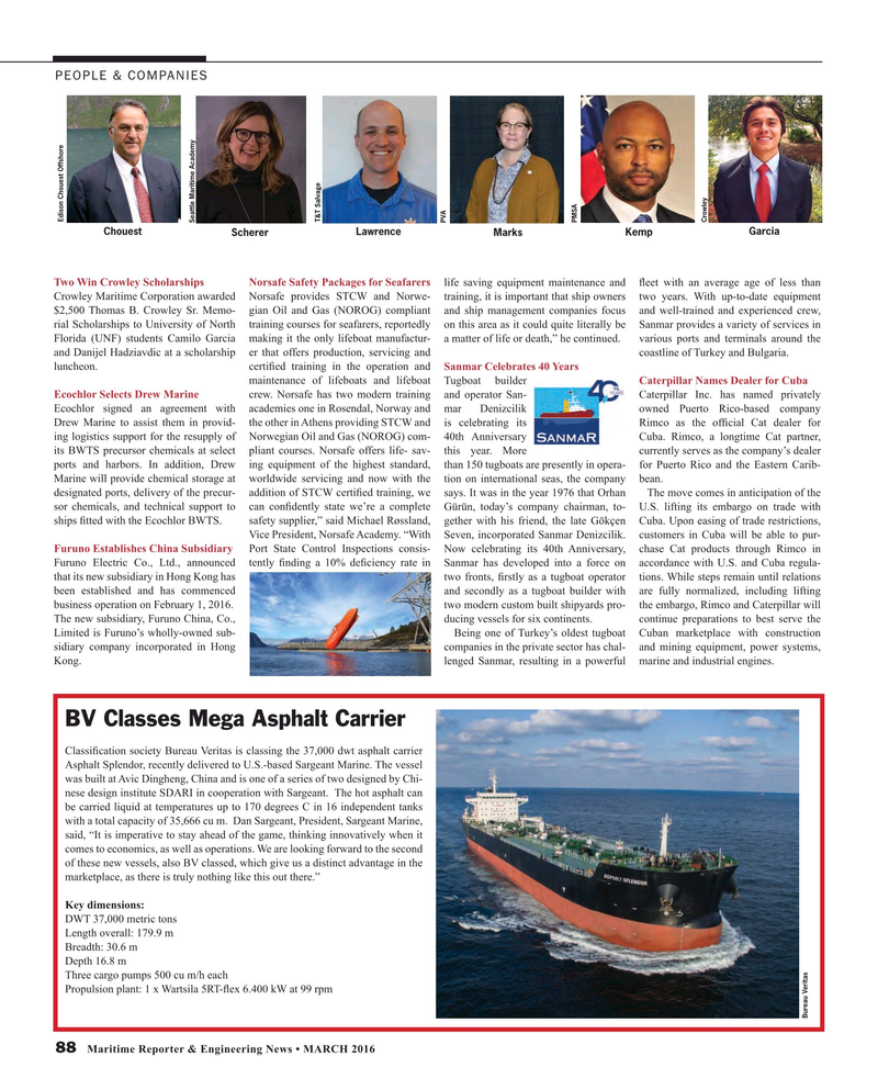 Maritime Reporter Magazine, page 88,  Mar 2016