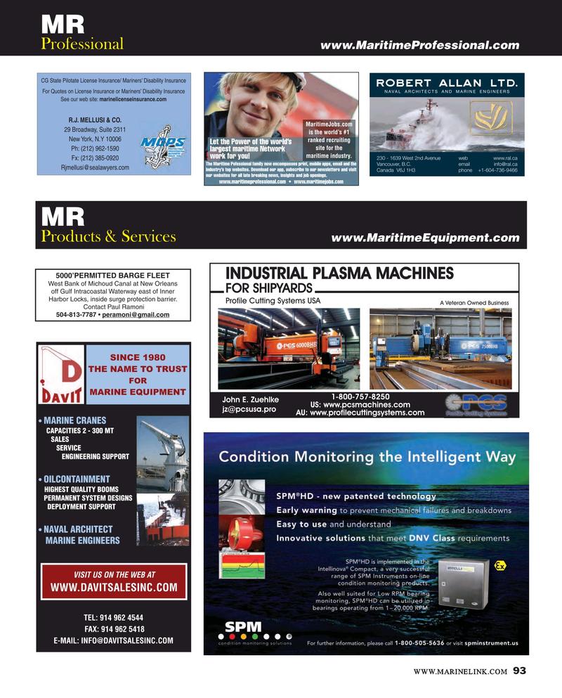 Maritime Reporter Magazine, page 93,  Mar 2016