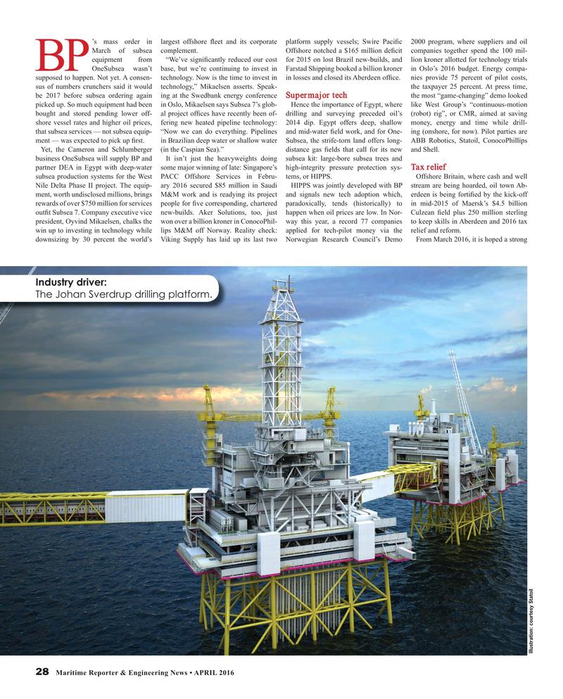 Maritime Reporter Magazine, page 28,  Apr 2016