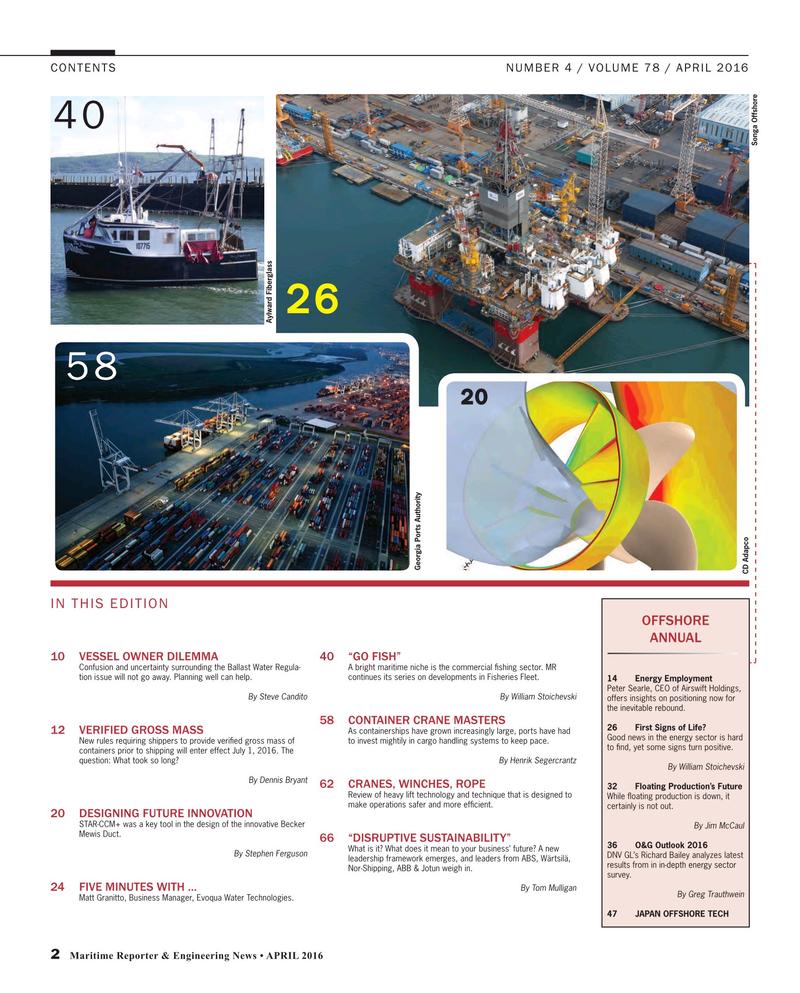 Maritime Reporter Magazine, page 2,  Apr 2016