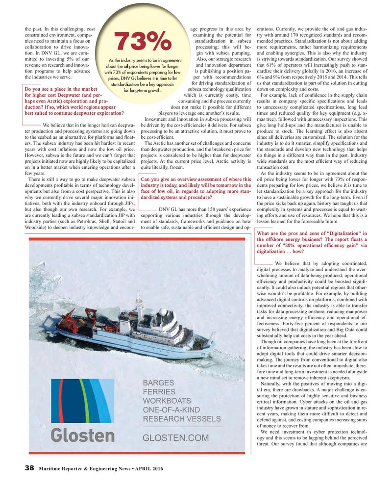 Maritime Reporter Magazine, page 38,  Apr 2016