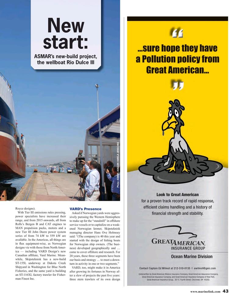 Maritime Reporter Magazine, page 43,  Apr 2016