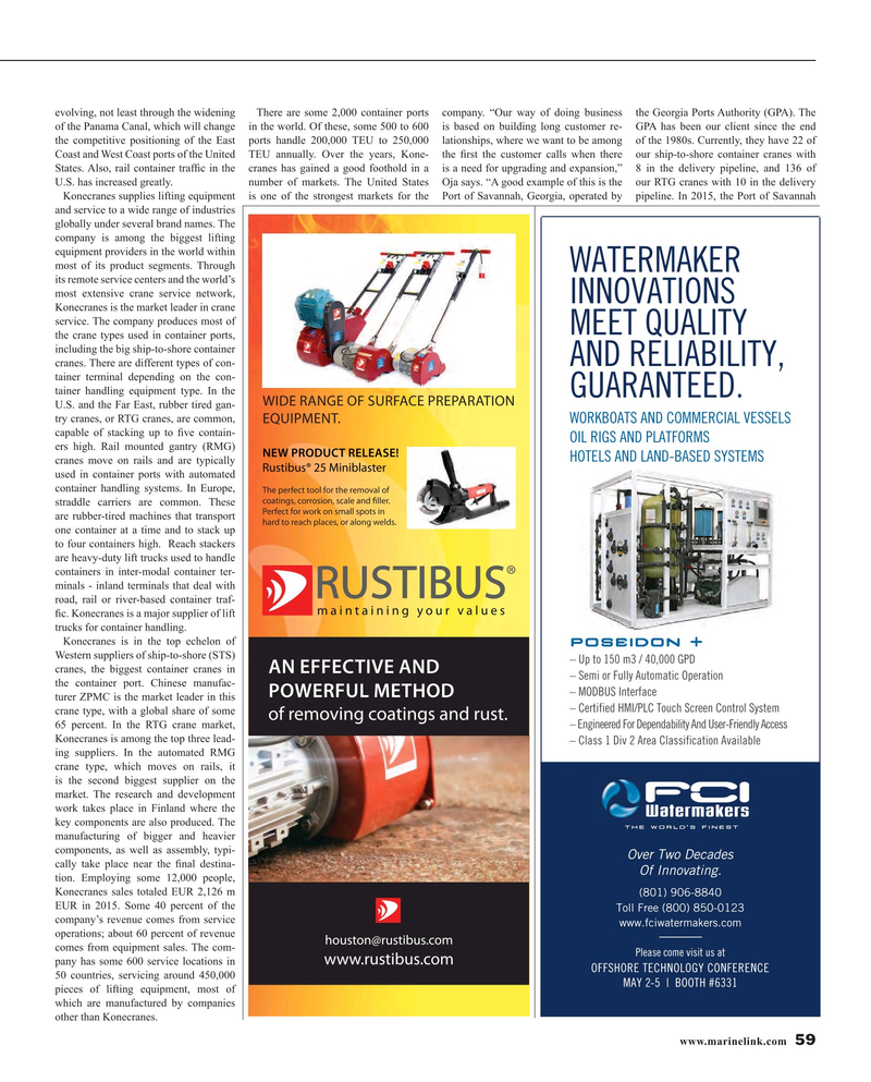 Maritime Reporter Magazine, page 59,  Apr 2016