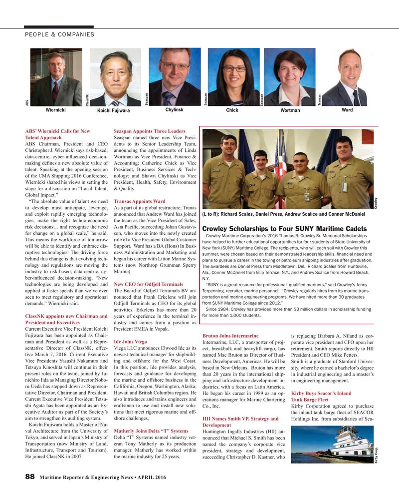 Maritime Reporter Magazine, page 88,  Apr 2016