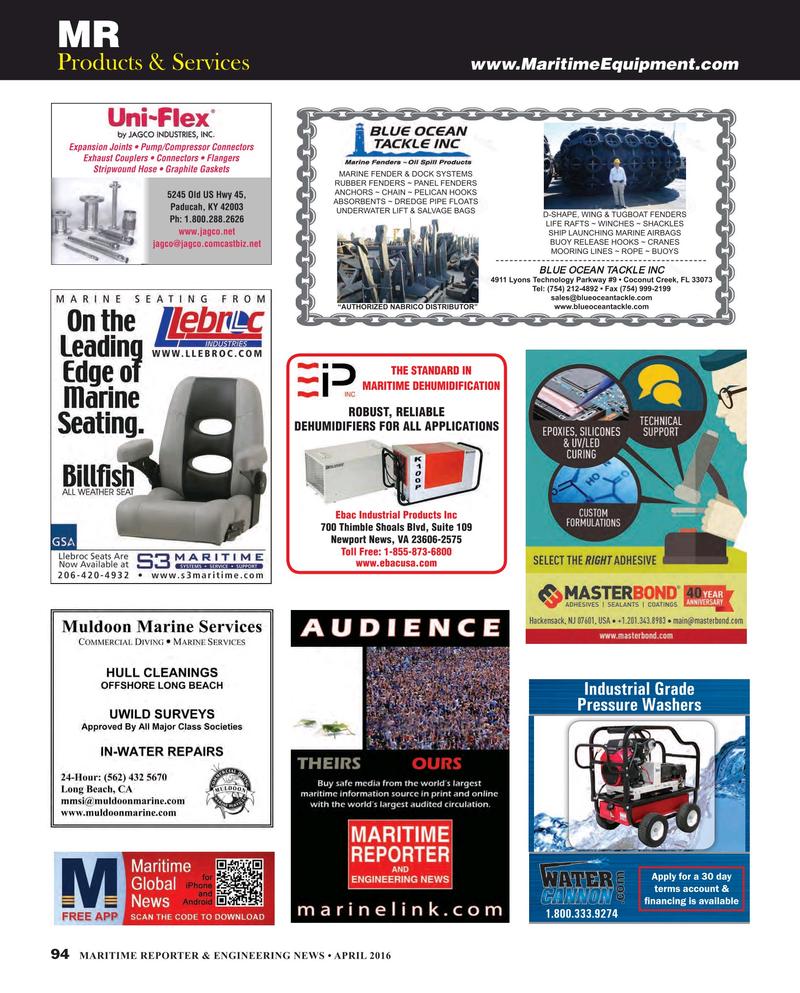 Maritime Reporter Magazine, page 94,  Apr 2016