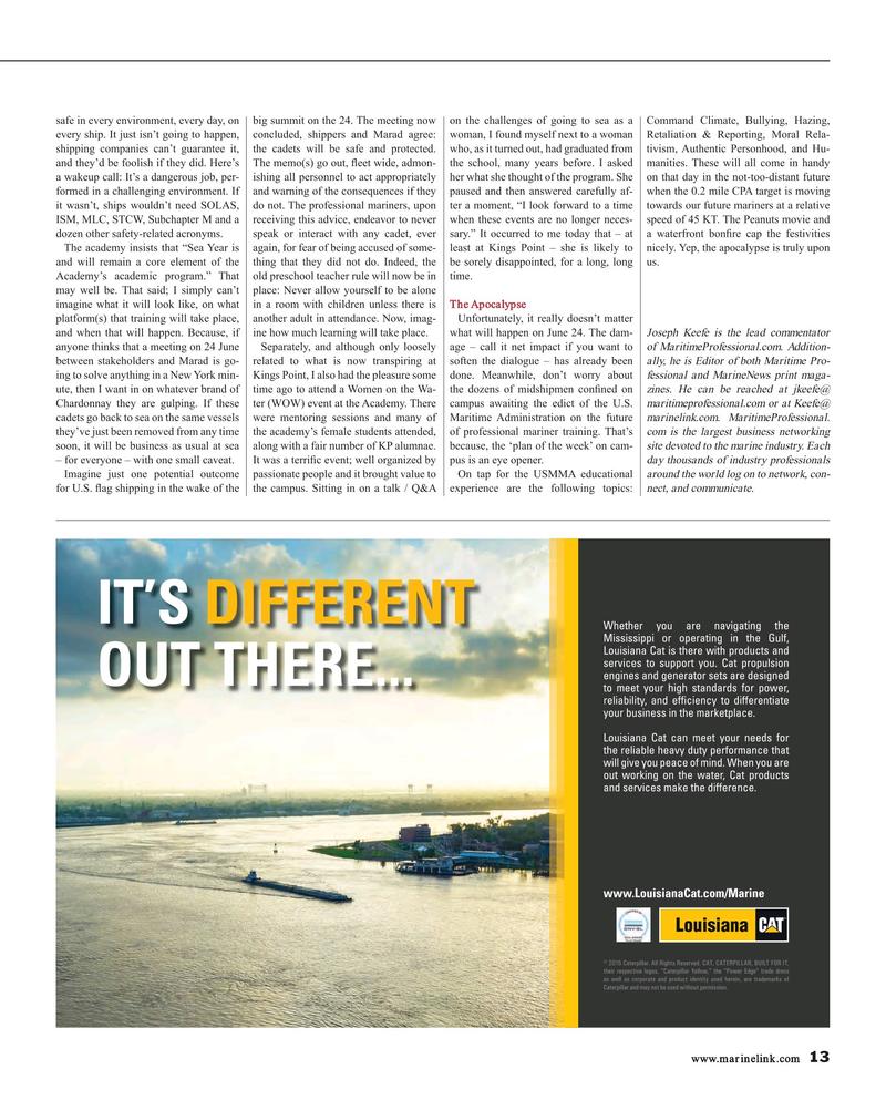 Maritime Reporter Magazine, page 13,  Jul 2016