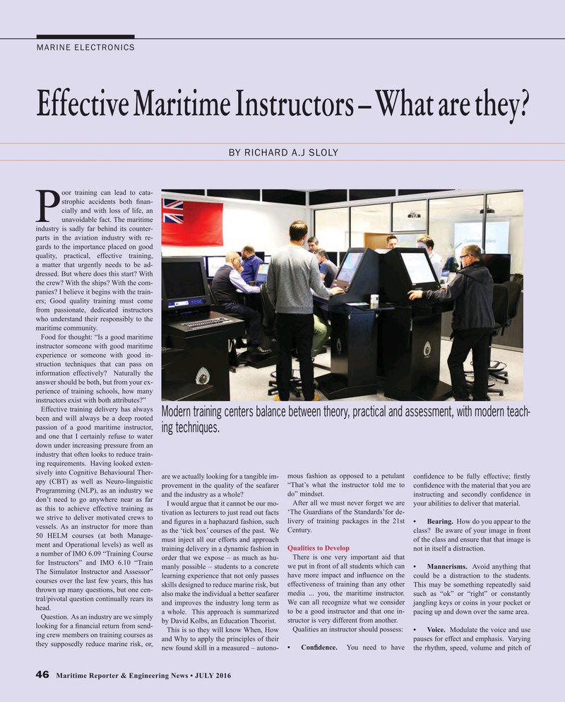 Maritime Reporter Magazine, page 46,  Jul 2016
