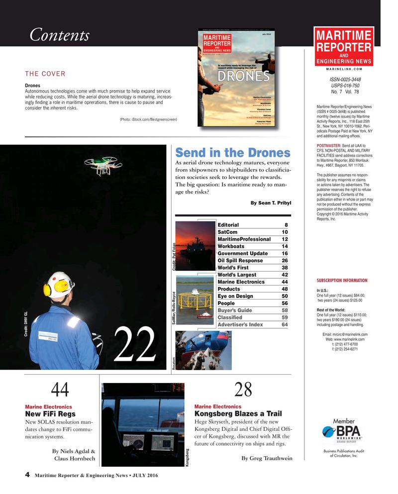 Maritime Reporter Magazine, page 4,  Jul 2016