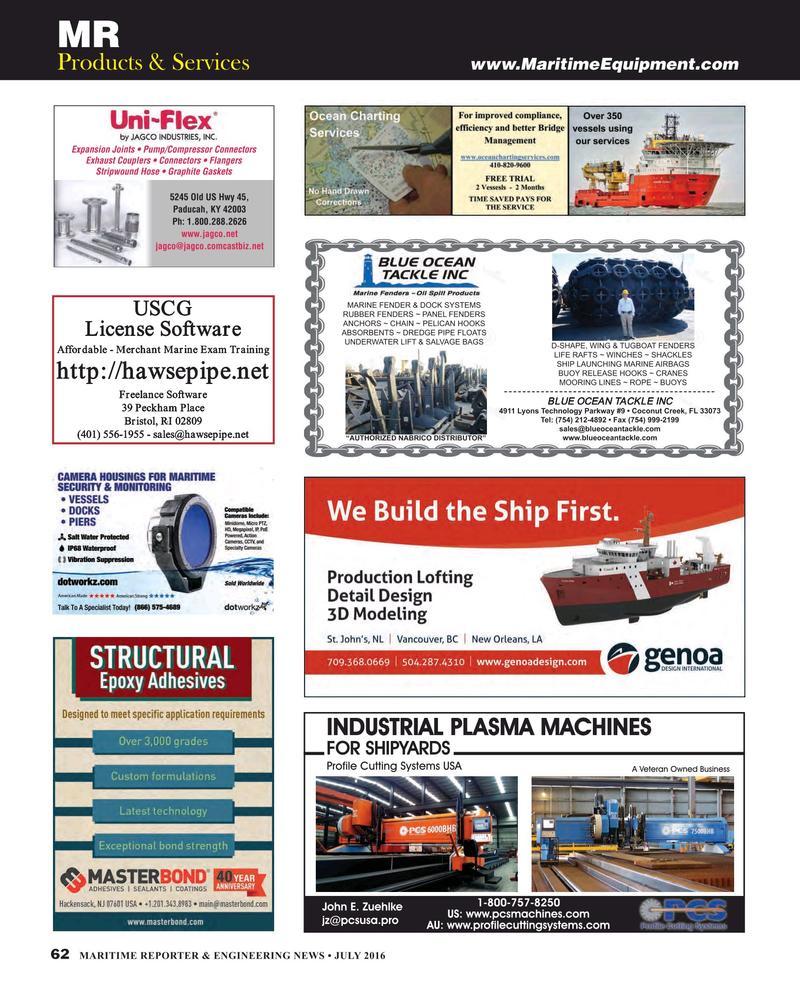 Maritime Reporter Magazine, page 62,  Jul 2016