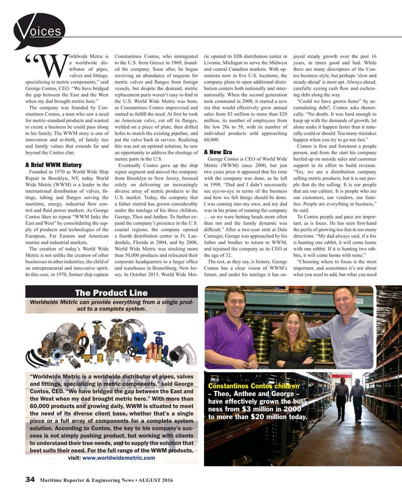 Maritime Reporter Magazine, page 34,  Aug 2016