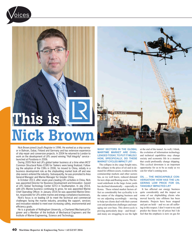 Maritime Reporter Magazine, page 40,  Aug 2016