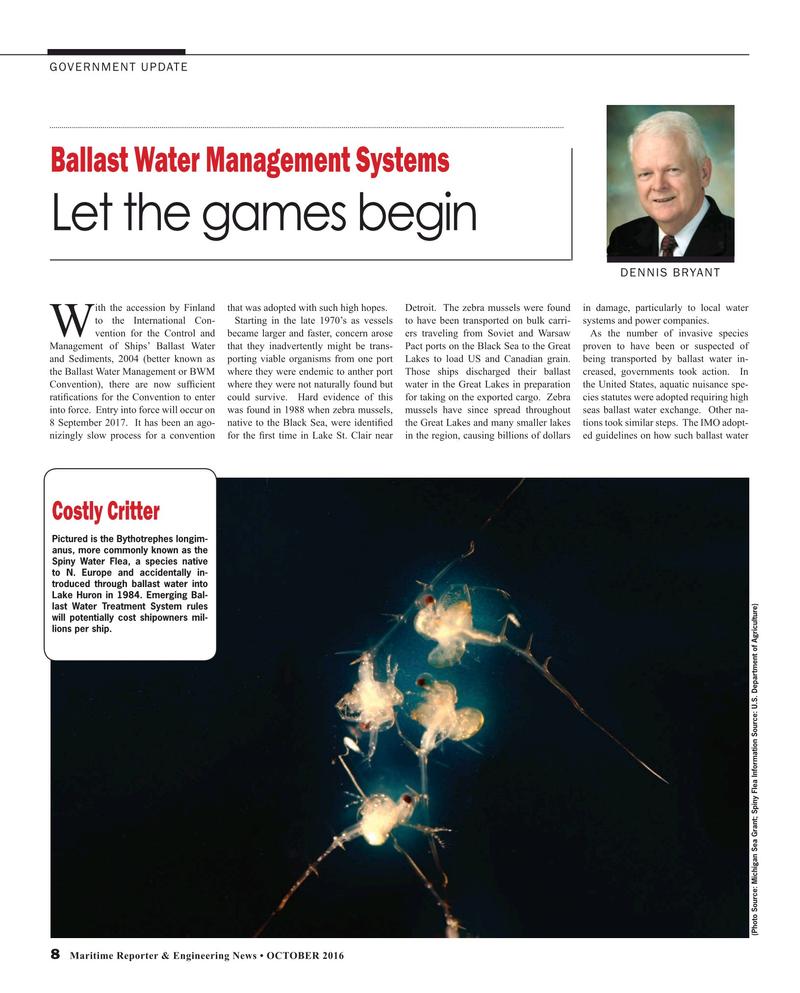 Maritime Reporter Magazine, page 8,  Oct 2016