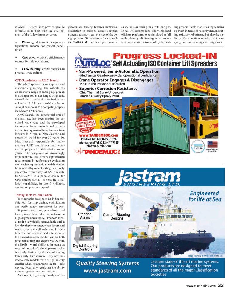 Maritime Reporter Magazine, page 33,  Oct 2016