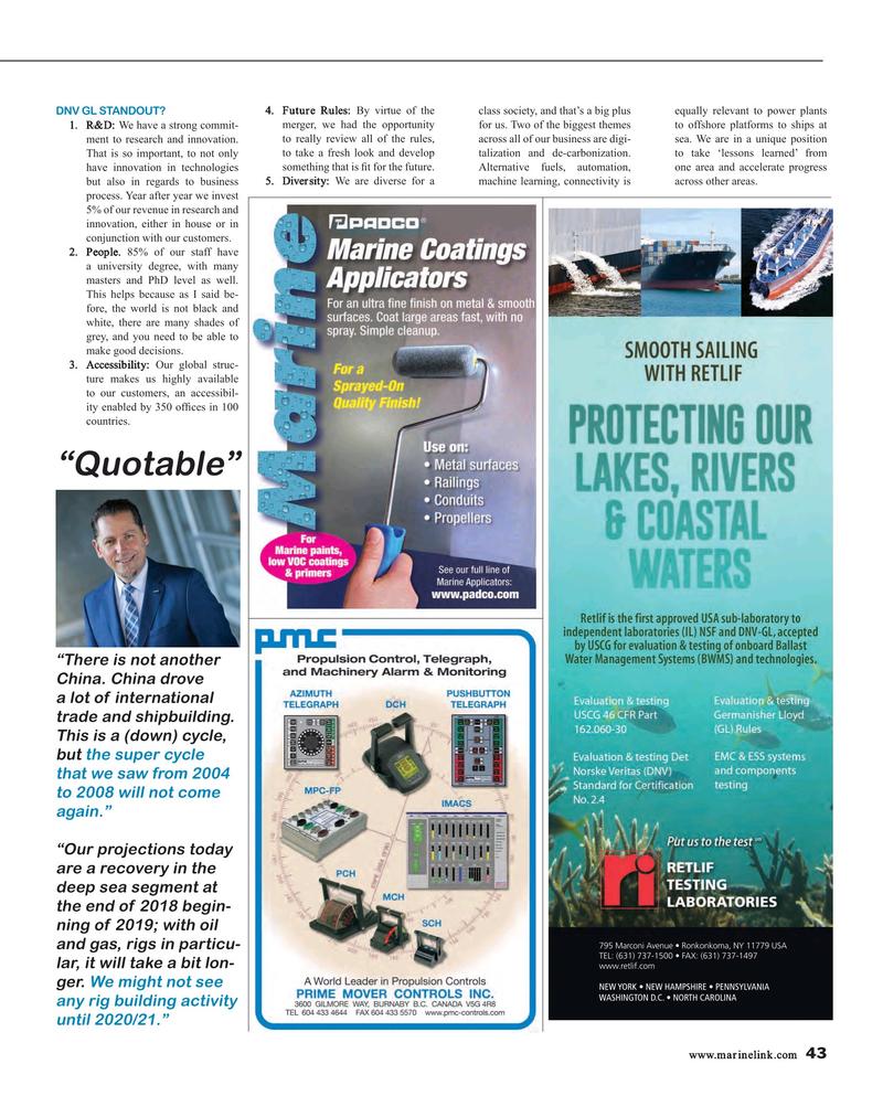 Maritime Reporter Magazine, page 43,  Oct 2016