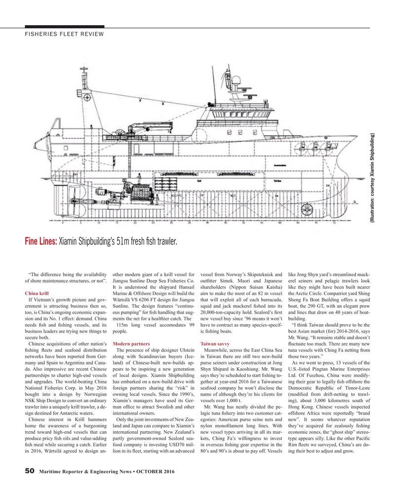 Maritime Reporter Magazine, page 50,  Oct 2016