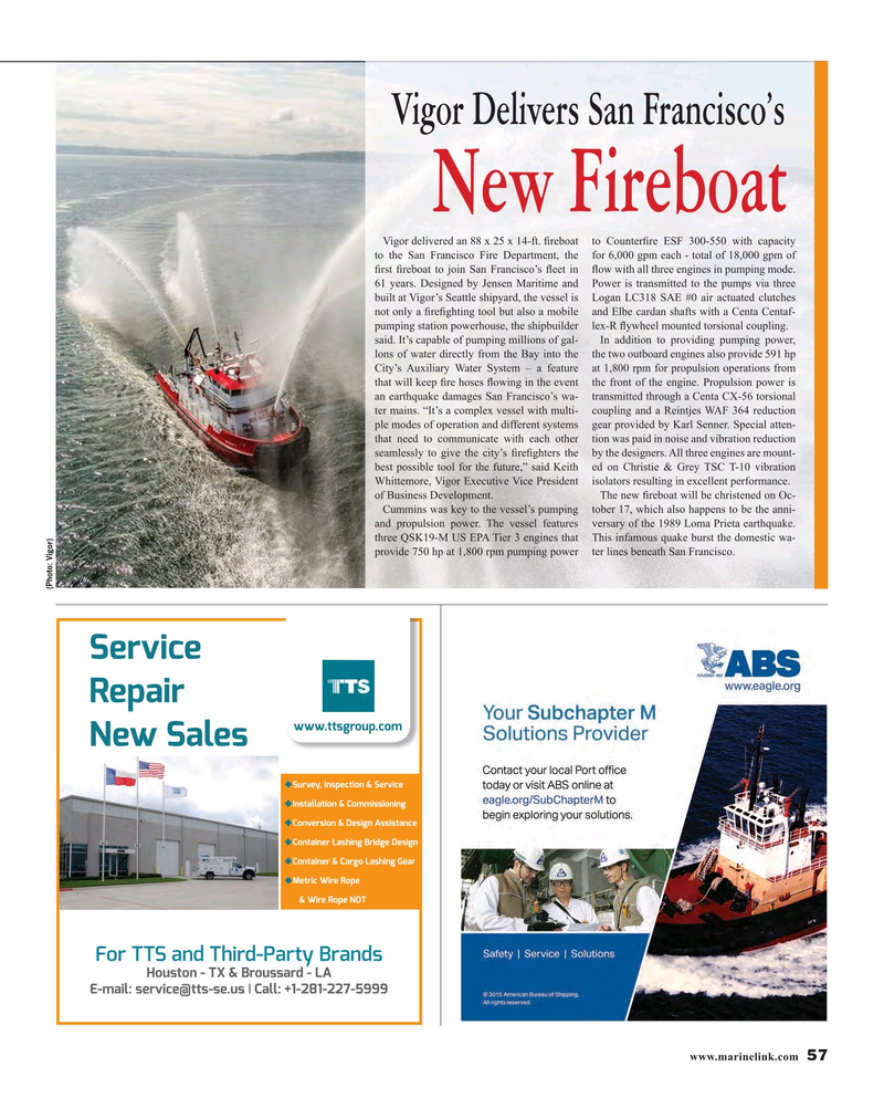 Maritime Reporter Magazine, page 57,  Oct 2016