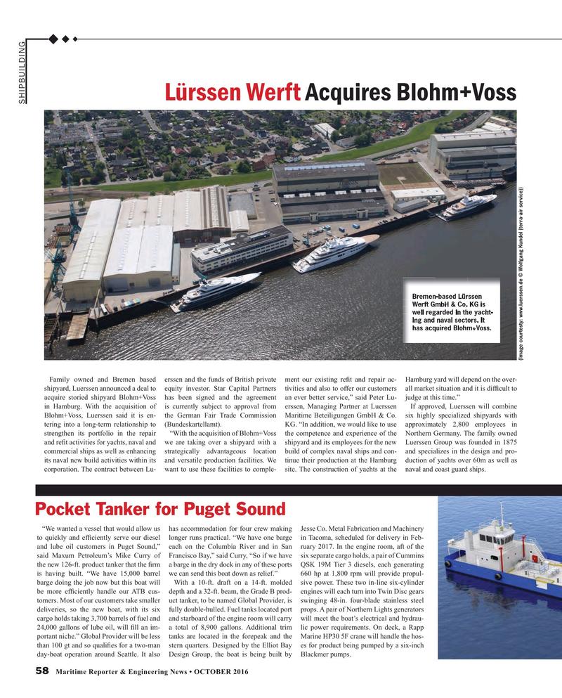 Maritime Reporter Magazine, page 58,  Oct 2016