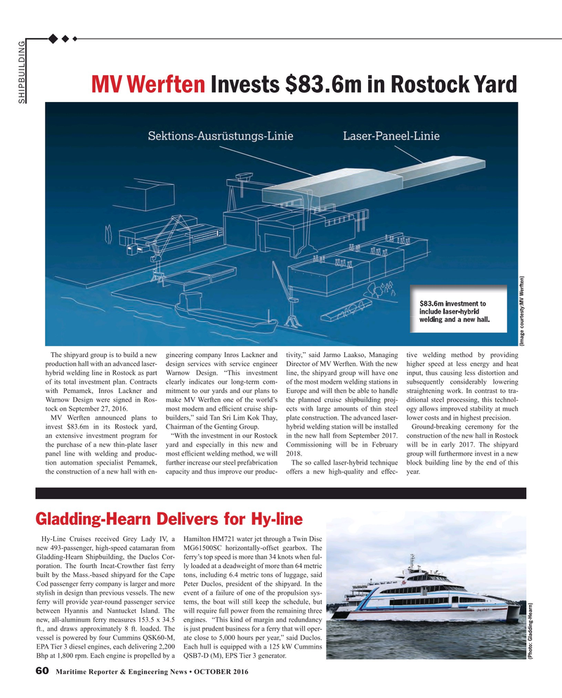 Maritime Reporter Magazine, page 60,  Oct 2016
