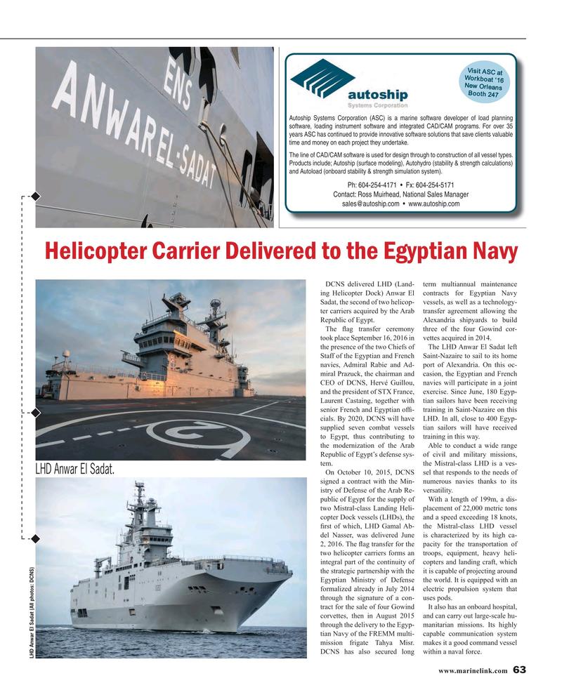 Maritime Reporter Magazine, page 63,  Oct 2016
