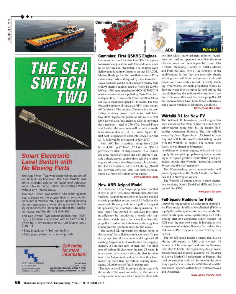 Maritime Reporter Magazine, page 66,  Oct 2016