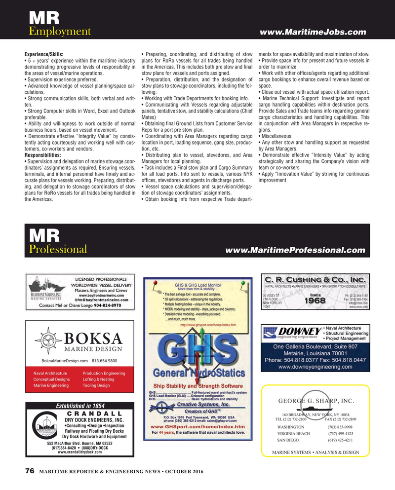 Maritime Reporter Magazine, page 76,  Oct 2016