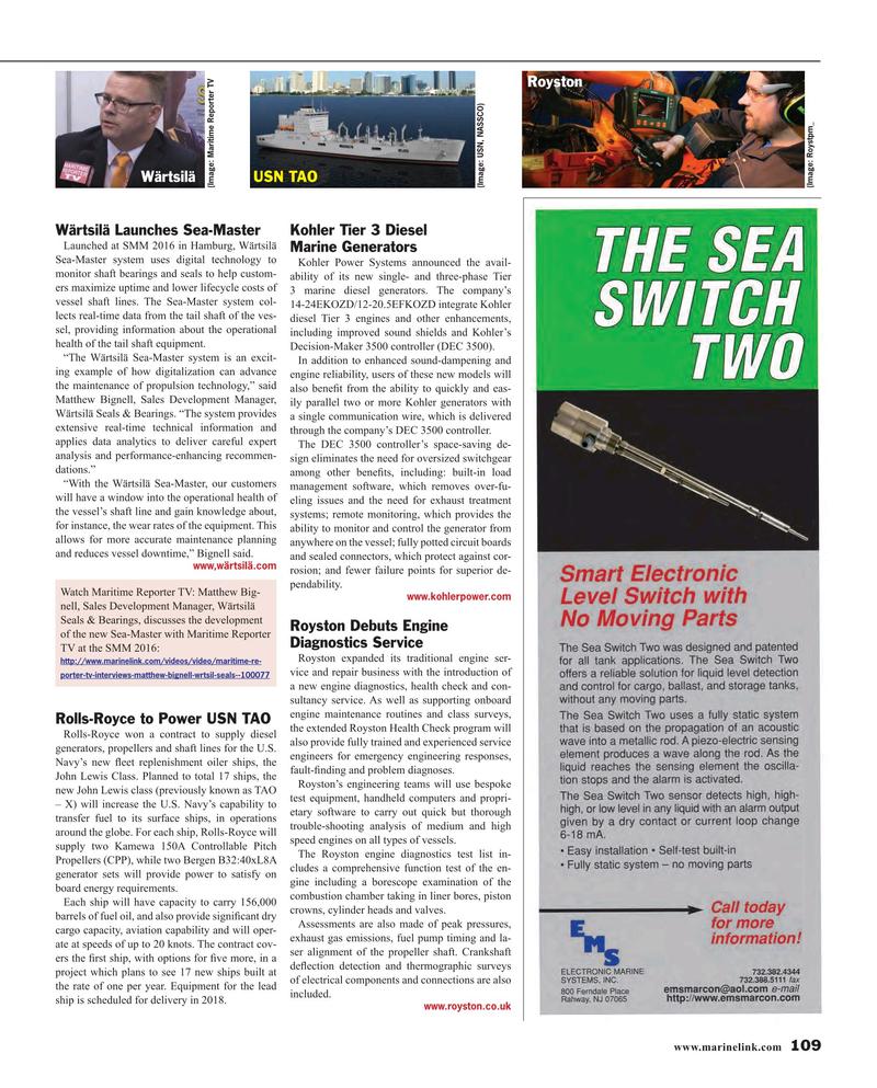 Maritime Reporter Magazine, page 109,  Nov 2016