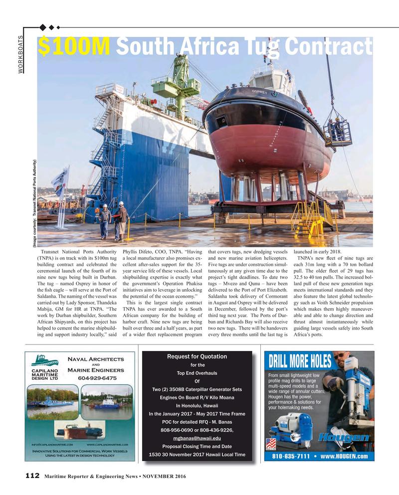 Maritime Reporter Magazine, page 112,  Nov 2016