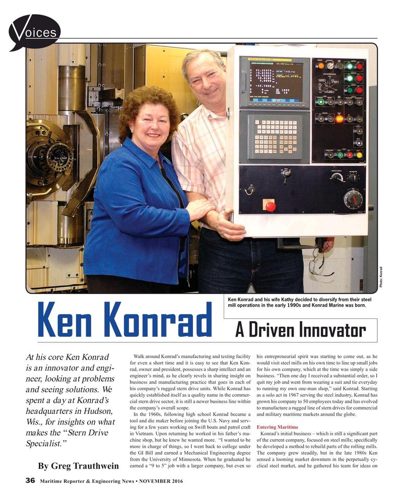 Maritime Reporter Magazine, page 36,  Nov 2016