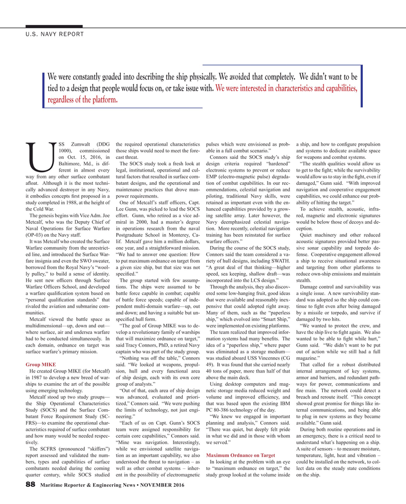 Maritime Reporter Magazine, page 88,  Nov 2016